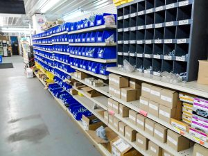 Hardware supplies on the shelf at pro ag farmers
