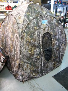 Hunting tent on the showfloor of the pro ag farmers store