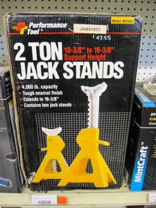 jack stands sitting on a shelf of pro ag farmers