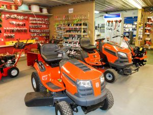 Lawn mowers on the floor of pro ag farmers